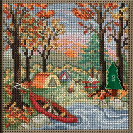 Outdoor Adventure Cross Stitch and Beading Kit By Mill Hill