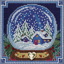 Snow Globe Cross Stitch and Beading Kit by Mill Hill