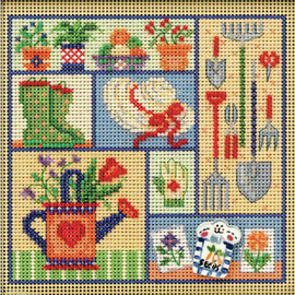 Garden Sampler Cross Stitch and Beading Kit by Mill Hill