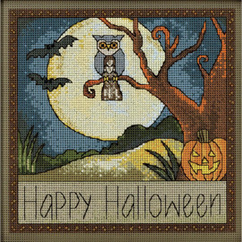 Happy Halloween Cross Stitch and Beading Kit by Mill Hill