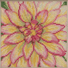 Dahlia Cross Stitch and Beading Kit by Mill Hill