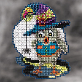 Halloween Owl Cross Stitch and Beading Kit By Mill Hill