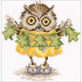 Christmas Tree Necklace Cross Stitch Kit by RTO