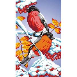 Bullfinches Printed Cross Stitch Kit By MP Studia