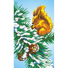 Squirrel Printed Cross Stitch Kit By MP Studia