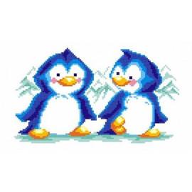 Penguins Printed Cross Stitch Kit By MP Studia