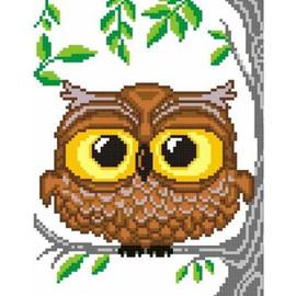 Owl Printed Cross Stitch Kit By MP Studia