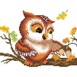 Among The Yellow Leaves Of September Printed Cross Stitch Kit By MP Studia