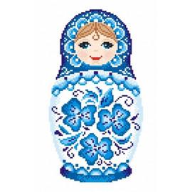Russian Doll 2 Printed Cross Stitch Kit By MP Studia
