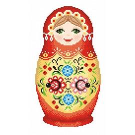 Russian Doll 3 Printed Cross Stitch Kit By MP Studia