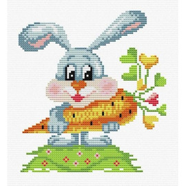 Let's Crunch Printed Cross Stitch Kit By MP Studia