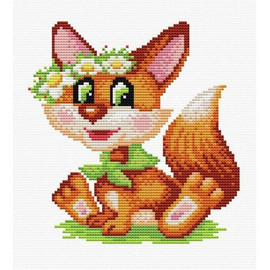 Red Guest Printed Cross Stitch Kit By MP Studia