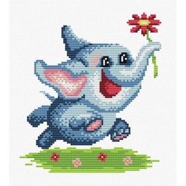Happiness Exists Printed Cross Stitch Kit By MP Studia