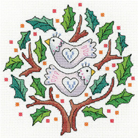 Two Turtle Doves Cross Stitch Kit by Heritage