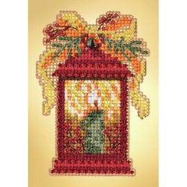 Christmas Lantern  Cross Stitch and Glass Beading Kit by Mill Hill