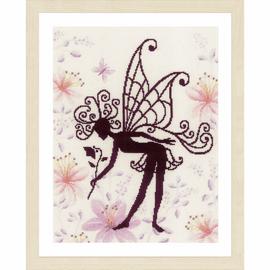 Flower Fairy Silhouette Cross Stitch Kit by Lanarte