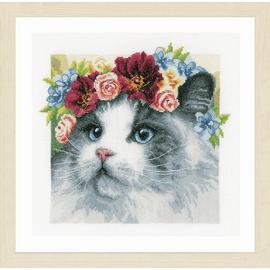 Flower Crown: Ragdoll (Evenweave) Cross Stitch Kit by Lanarte