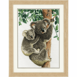 Koala with Baby Cross stitch Kit by Vervaco