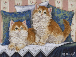 Fluffy Fellows Counted Cross Stitch Kit By  Merejka