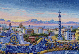 Barcelona Park Guell Counted Cross Stitch Kit By Merejka