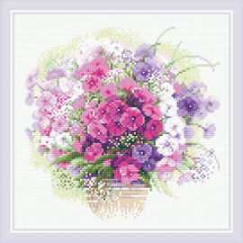 Watercolour Phlox Diamond Mosaic Kit By Riolis