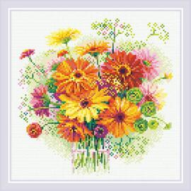 Watercolour Gerberas Diamond Mosaic Kit By Riolis