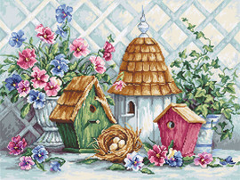 Garden Nesting Counted Cross Stitch Kit By Luca S