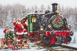 Santa Express Christmas Cross Stitch Kit By Luca S