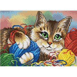Kitten (1) Cross Stitch Kit By MP Studia