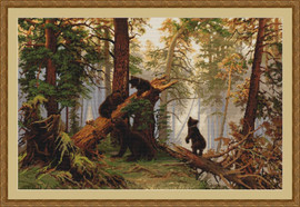 Morning in a Pine Forest Petit Point Kit By Luca S
