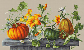 Pumpkins Counted Cross Stitch Kit By Luca S