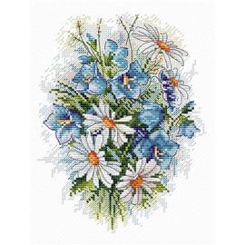 Field Flowers Cross Stitch Kit By MP Studia