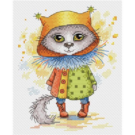 Cat In Boots Cross Stitch Kit By MP Studia