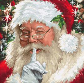 Santa Shhh Christmas Cross Stitch Kit By Luca S