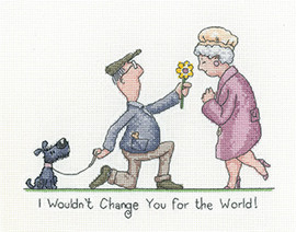 I wouldnt change you cross stitch Kit by Peter Underhill