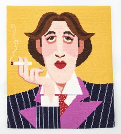 Oscar Wilde Tapestry Kit by Emily Peacock