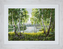 Native Birches in the Light Petit Point Kit by Luca S
