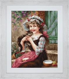 The Little Kitten Petit Point Kit by Lucas S