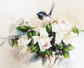 Bluetit on Roses Counted Cross Stitch Kit by Luca S