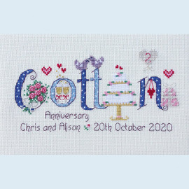 Cotton Anniversary Cross Stitch Chart only by Nia