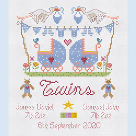 Twins Cross Stitch Chart only by Nia