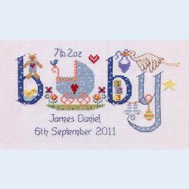 Baby Boy Cross Stitch Chart only by Nia