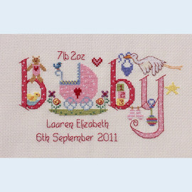Baby Girl Cross Stitch Chart  only by Nia