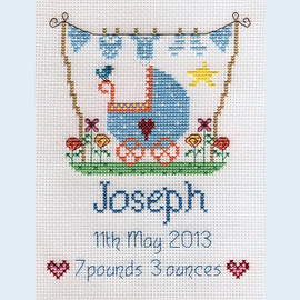 New Baby Boy Cross Stitch Chart only by Nia