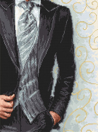 Bridegroom Counted Cross Stitch Kit by Luca-S