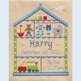 Little Boy Nursery Cross Stitch Chart only by Nia