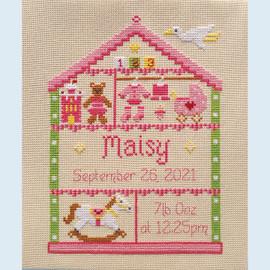 Little Girl Nursery Cross Stitch Chart only by Nia