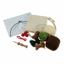 Punch Needle Kit: Yarn and Hoop: Christmas Pudding By Trimits