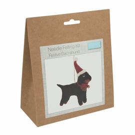 Needle Felting Kit: Festive Dachshund By Trimits