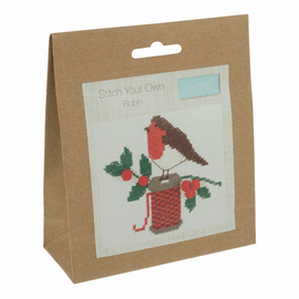 Counted Cross Stitch Kit: Robin By Trimits